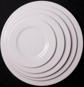 Lubiana Dinner Plate 10.5 Inch Wide Rim