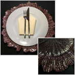 Rose Leaf Glass Charger Plate