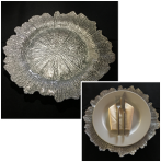 Silver Leaf Glass Charger Plate
