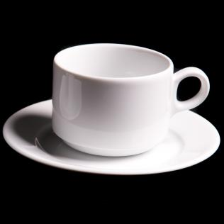 Lubiana Wersal Stacking 22cl Tea Cup And 15.5cm Saucer
