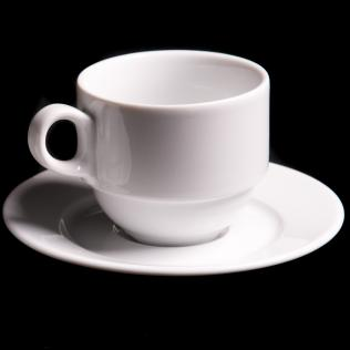 Lubiana Wersal Stacking 19cl Tea Cup And 14.5cm Saucer